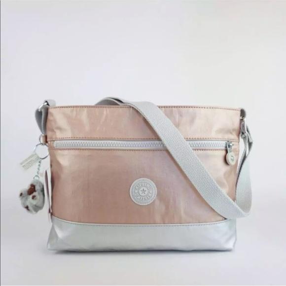 3ef5190498 Kipling Bags | Nwt Shoulder Crossbody Rose Gold Metallic | Poshmark